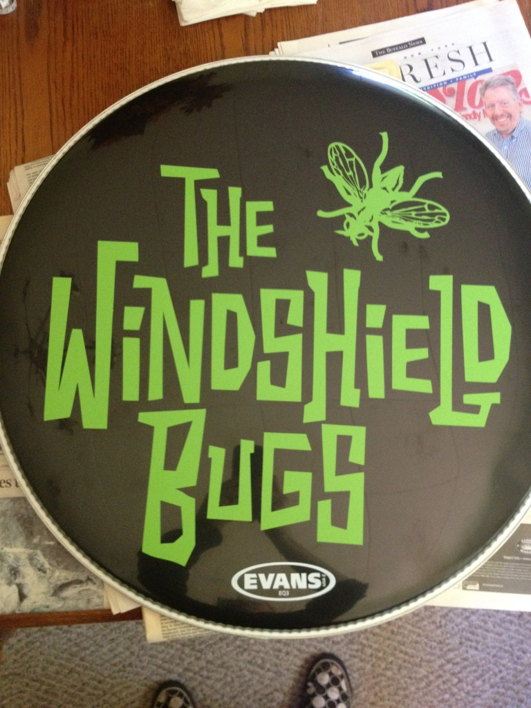 Vinyl Bass Drum Project Finished