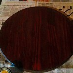 Staining some wood tonight Love the color so far! craftyrockershellip