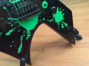 Closeup Guitar with Vinyl Splats Applied 2