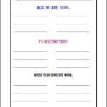 My Daily To Do List and Schedule with Free Printable