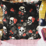 Whipped up a cool little skull pillow tonight Super easyhellip